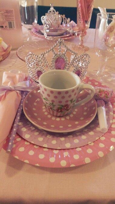 Princess table setting - high tea | Princess party | Pinterest ...