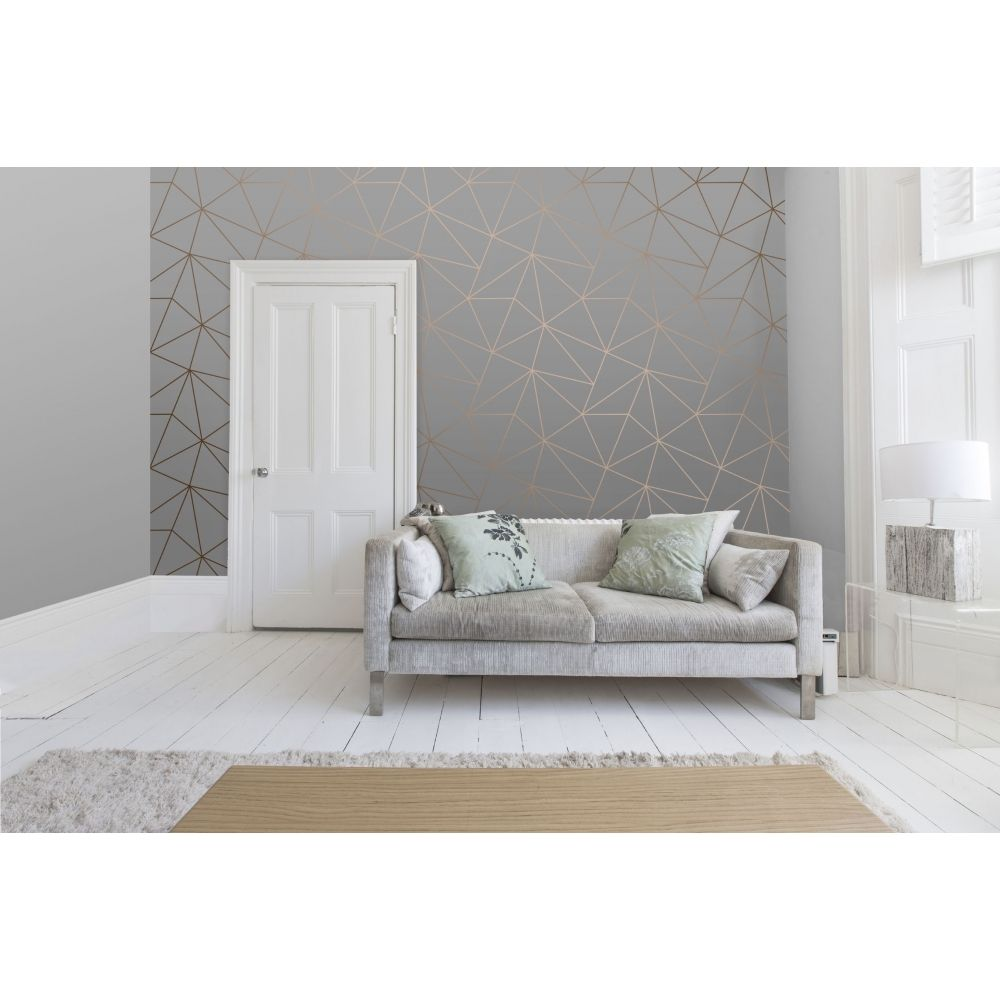 I Love Wallpaper Zara Shimmer Metallic Wallpaper Charcoal