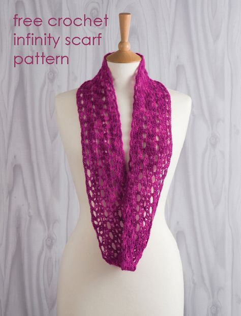 Daydream in Lace crochet infinity scarf by Jane Burns. Free pattern ...