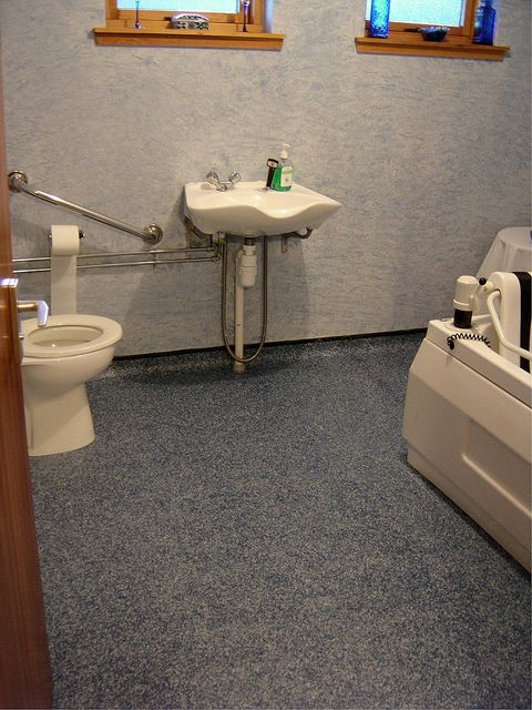 Non-Slip Vinyl Flooring Tile for Bathrooms ...