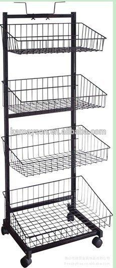 Hot sale! Metal wire snack / food POP display racks and