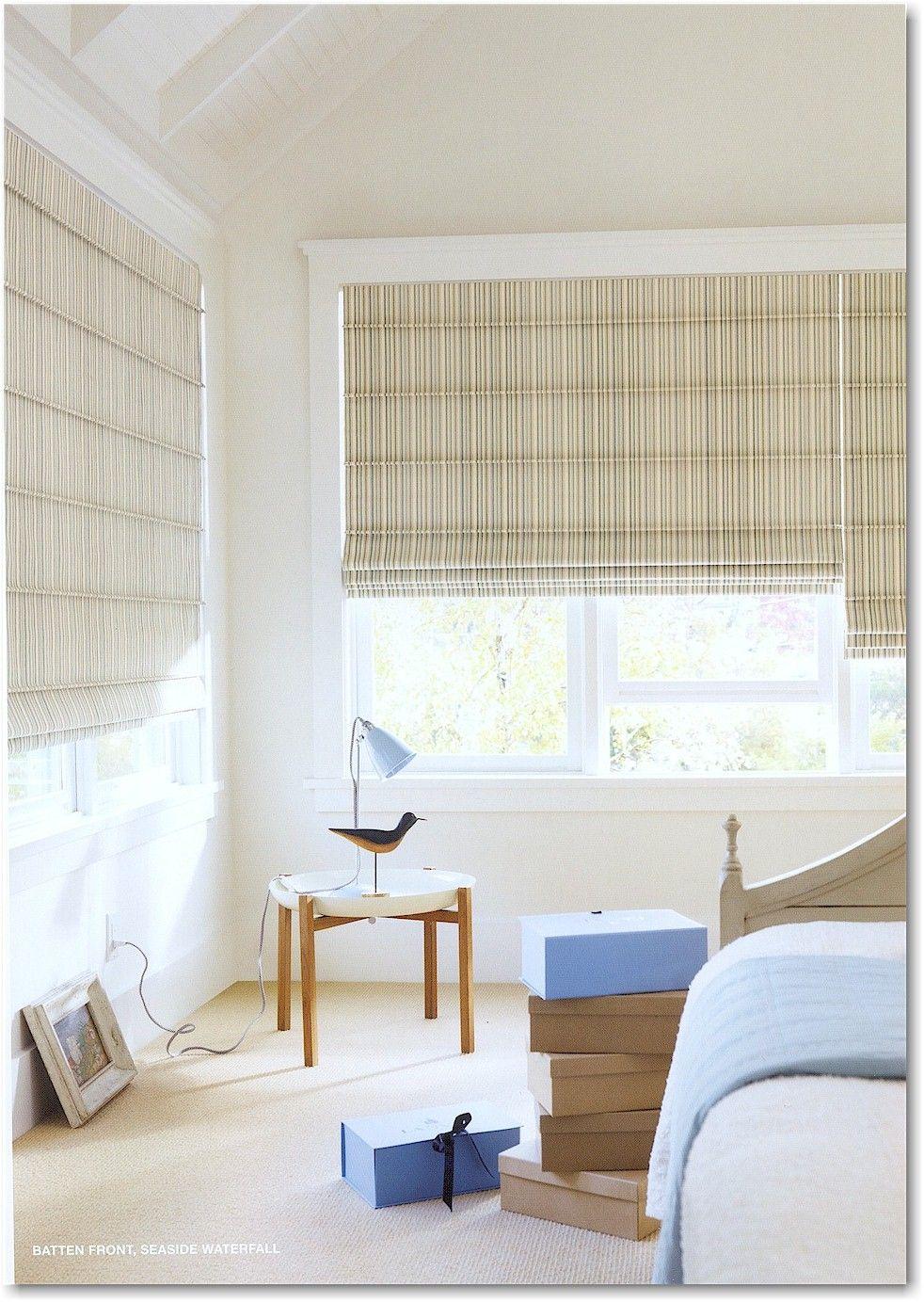 Hunter Douglas Design Studio Roman Shades In Batten Front Style Window Treatments Bedroom Kitchen Renovation Cost Roman Shades