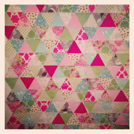 Pink And Green Triangle Layout Pink Quilts Quilts