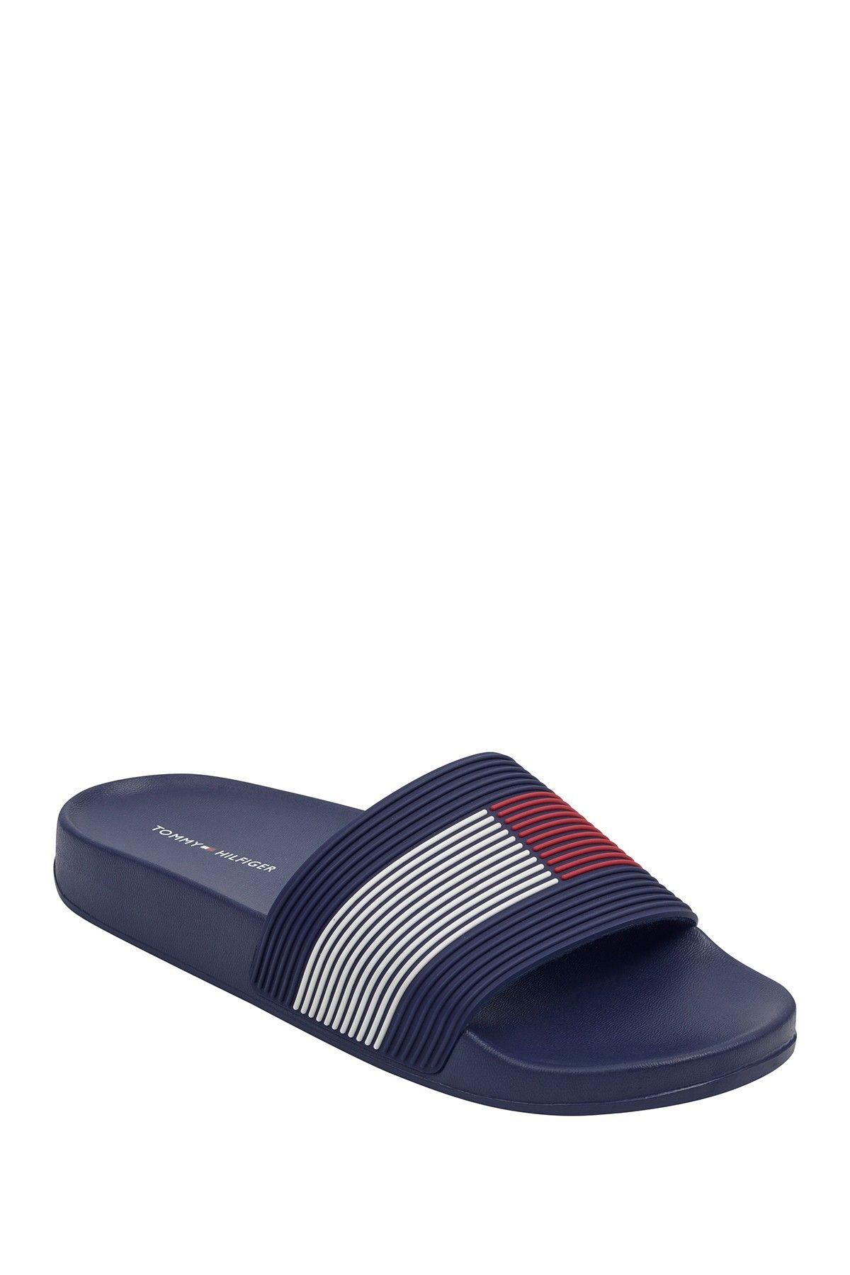 Tommy Hilfiger Daily Stripe Slide Sandal Nordstrom Rack Striped Slides Slide Sandals Sandals