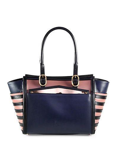 Louboutin Farida Multi Media Colorblock Top Handle Bag Cartera Hermes Bolsos De