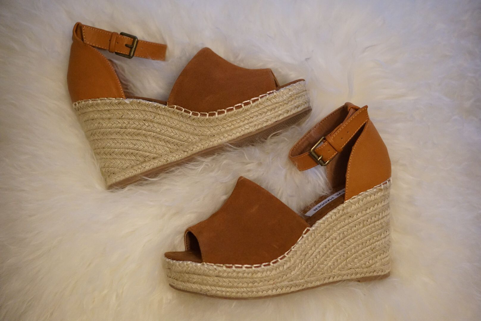 """Y'all, I found the perfect dupe of a dupe  These beauties are a dupe of the Marc Fisher espadrilles that everyone is loving and those are a dupe of the Chloe ones! They come in 3 different colors, brown, taupe, and black and are less than $60  It doesn't get any better than that. Go grab these beauties fast before they sell out! All details linked via @liketoknow.it or on my blog in the """"shop the feed"""" section http://liketk.it/2qynj #liketkit"""