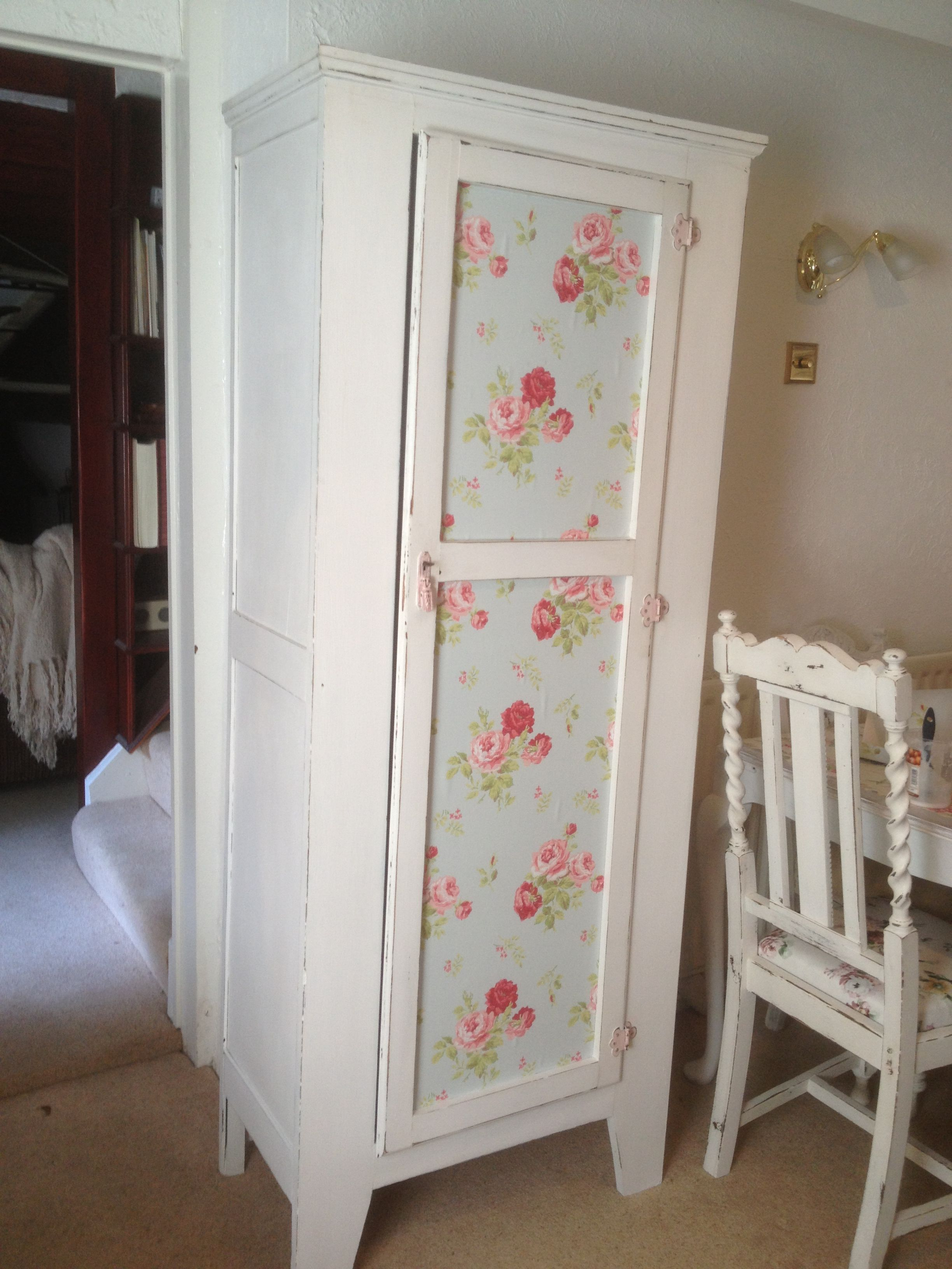 Pretty little shabby chic wardrobe, with shelves added inside (on ...