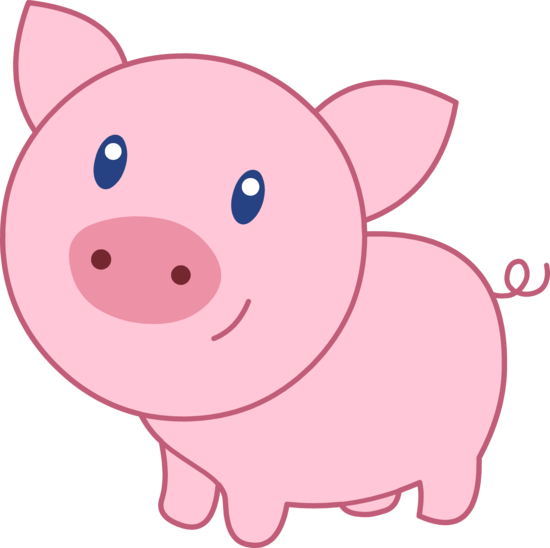 http sweetclipart com cute happy pink pig 1820 clipart rh pinterest com clipart pigs at the trough clipart pig wig