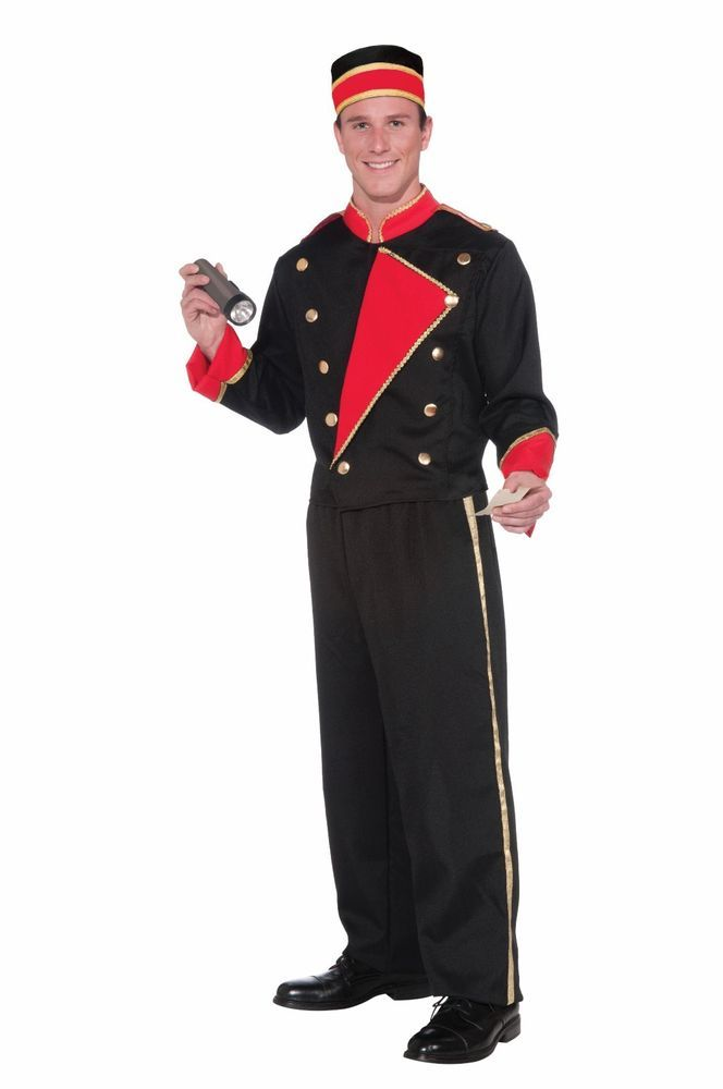 Vintage Look Movie Usher Costume Hollywood Theater Employee Suit ...