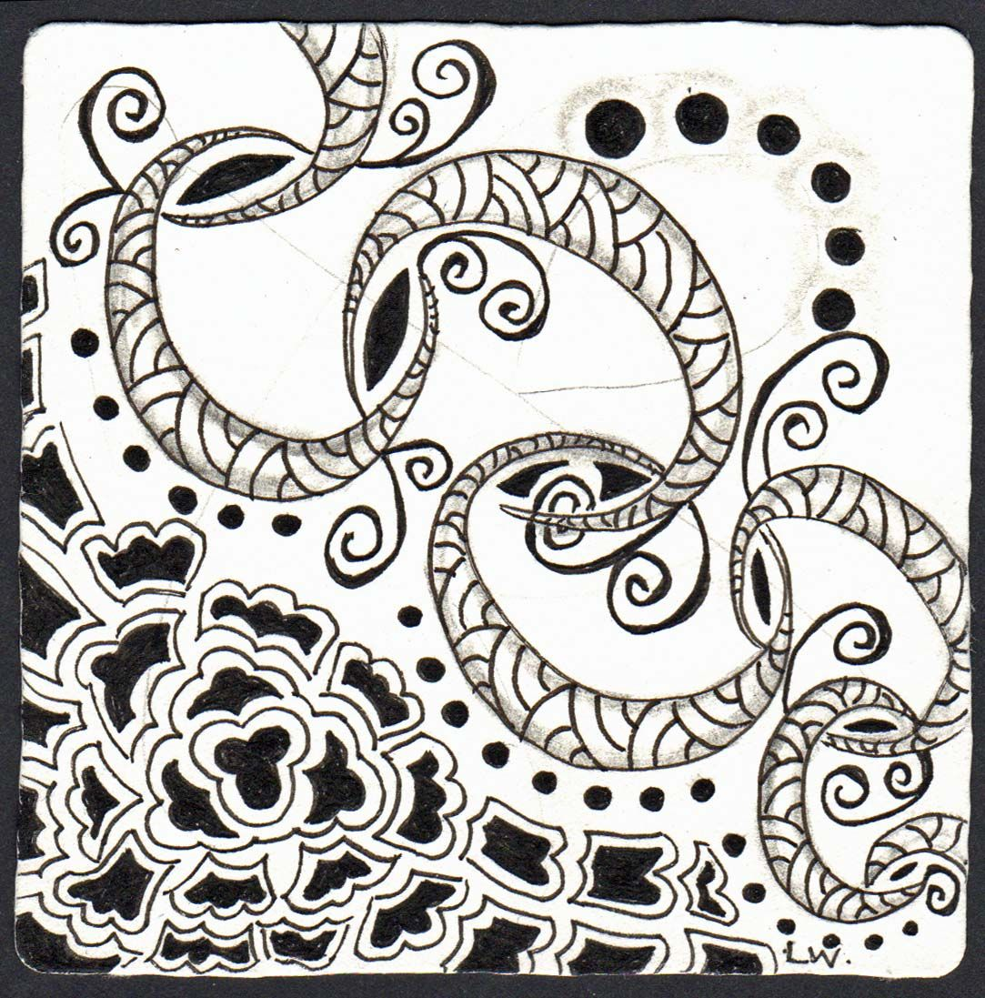 I love this tangle i was surprised how it just sort of was born