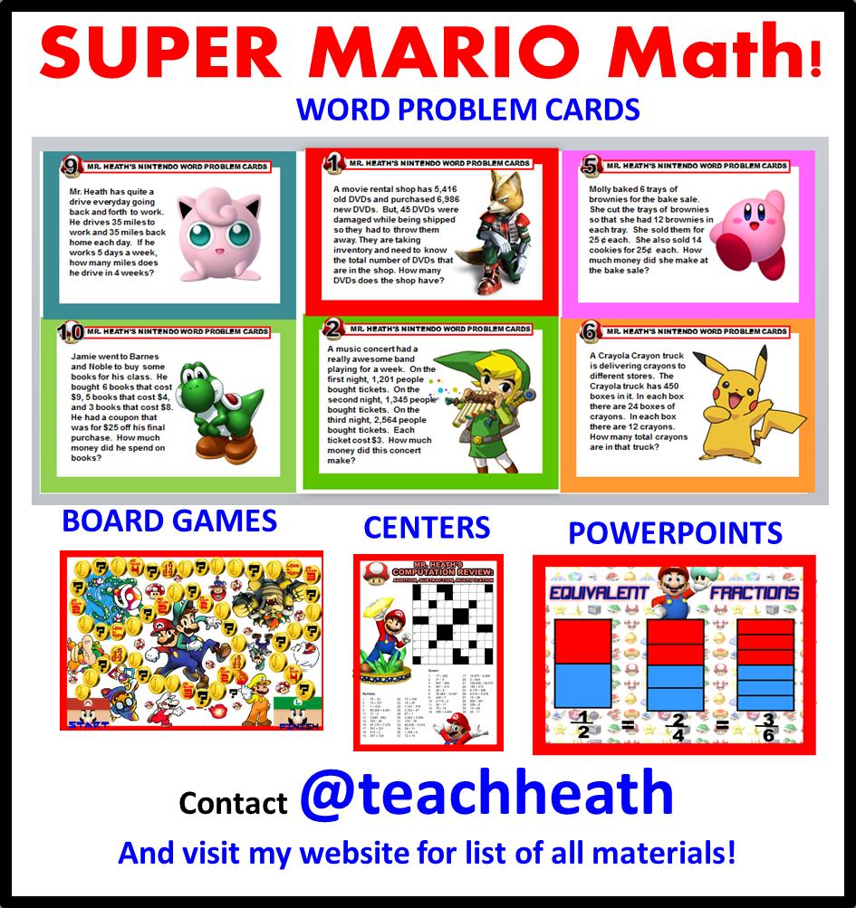 Super Mario Themed Scrabble Math {Free Printable} | Pinterest | Math ...