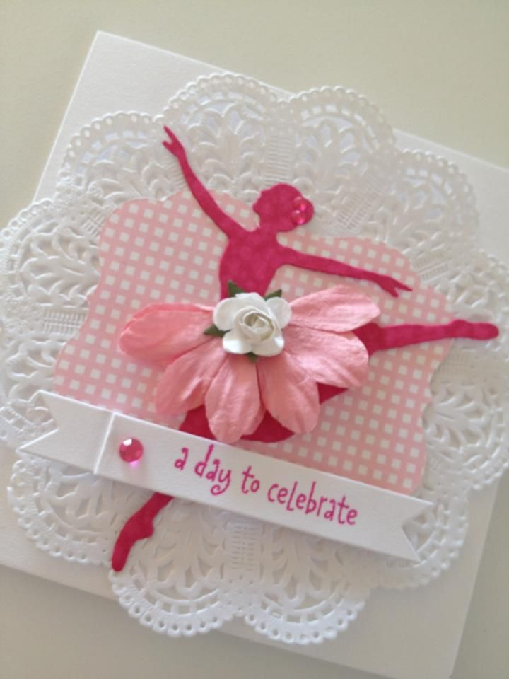 diy silhouette christmas cards handmade greeting card of ballerina silhouette pretty in 4262
