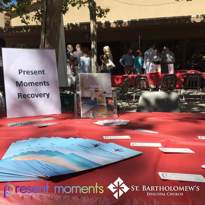 Thank you @stbartspoway for your gracious invitation to join your Health Fair #stbartslove #recoveryrocks #bythesearecovery