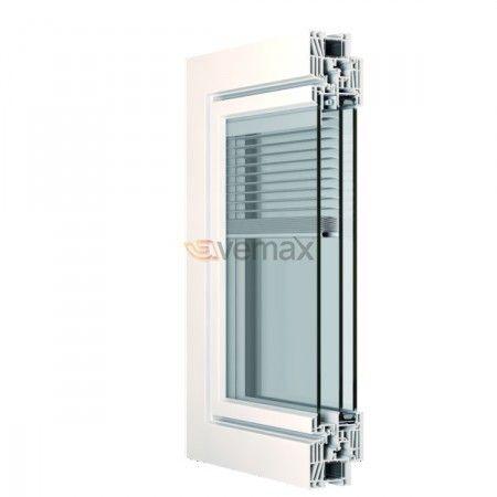 Hoja veneciana interior lamas de aluminio entre vidrios - Puertas de aluminio doble hoja ...
