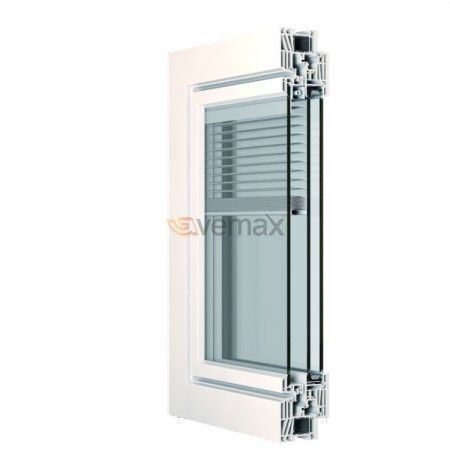 Hoja veneciana interior lamas de aluminio entre vidrios for Ventanas de aluminio doble vidrio argentina