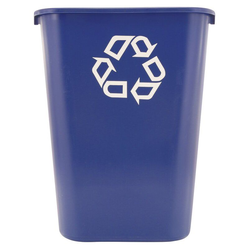 Large Deskside Container 10 Gallon Recycling Bin In 2020 Recycling Containers Rubbermaid Commercial Products Recycling Bins