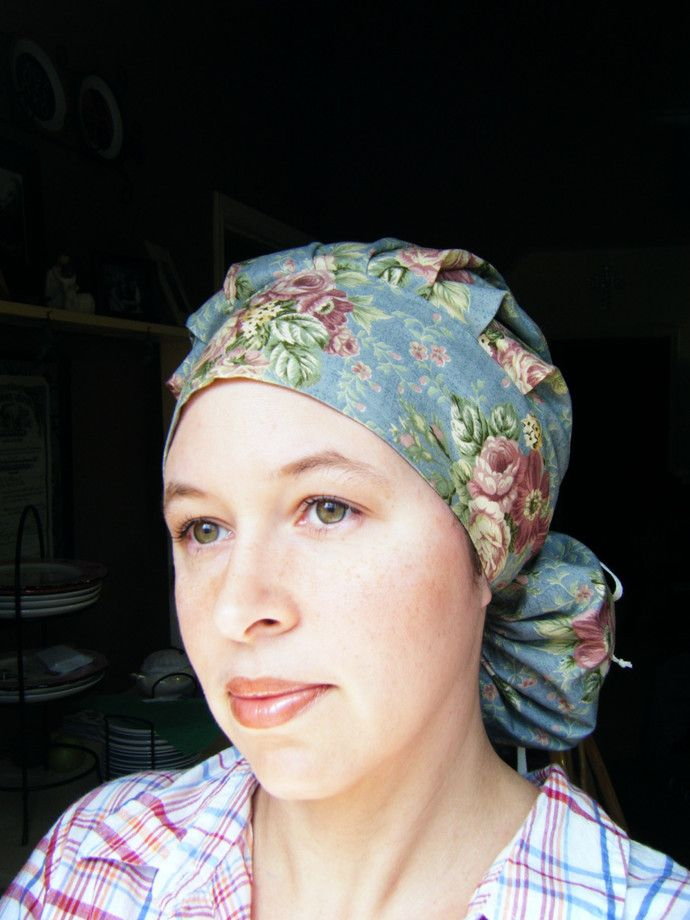Ponytail Bouffant Scrub Hat Surgical Cap Sewing Pattern Pdf