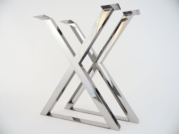 Modern Metal Dining Table Legs Stainless Steel 28 X Frame Table