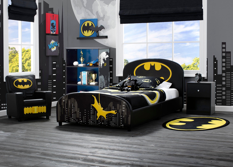 Delta Children Dc Comics Batman Upholstered Twin Bed Black Leather In 2020 Batman Room Batman Bedroom Boys Bedroom Themes