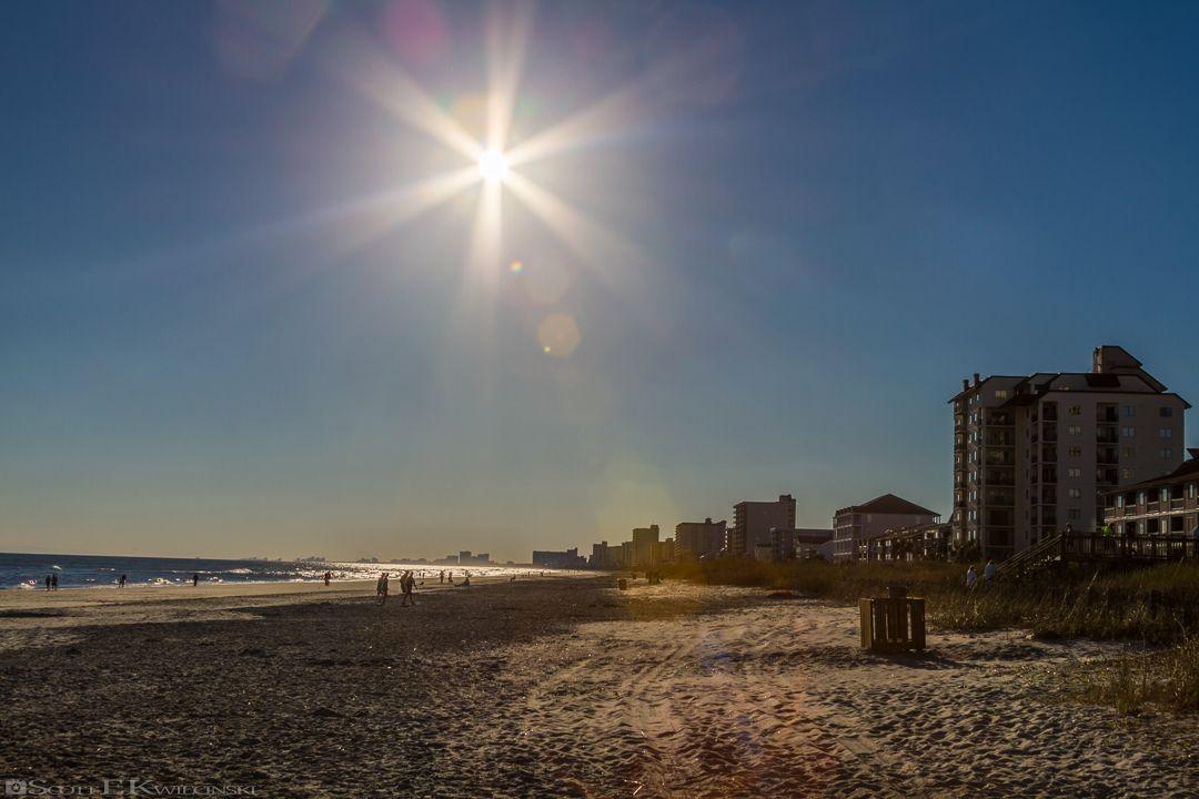 Late Day Lens Flare  #Beach #Dune #Dunes #CherryGrove #MyrtleBeach #NorthMyrtleBeach #SouthCarolina #Sky #ClearSky #BlueSky