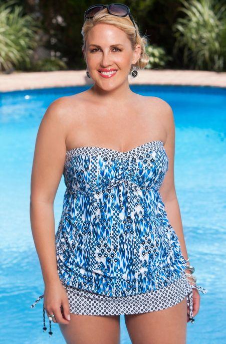 f15e128c81 Plus Size Swimwear Always For Me Chic Prints Marilia Tankini Always for Me  Price  89.00 In Stock