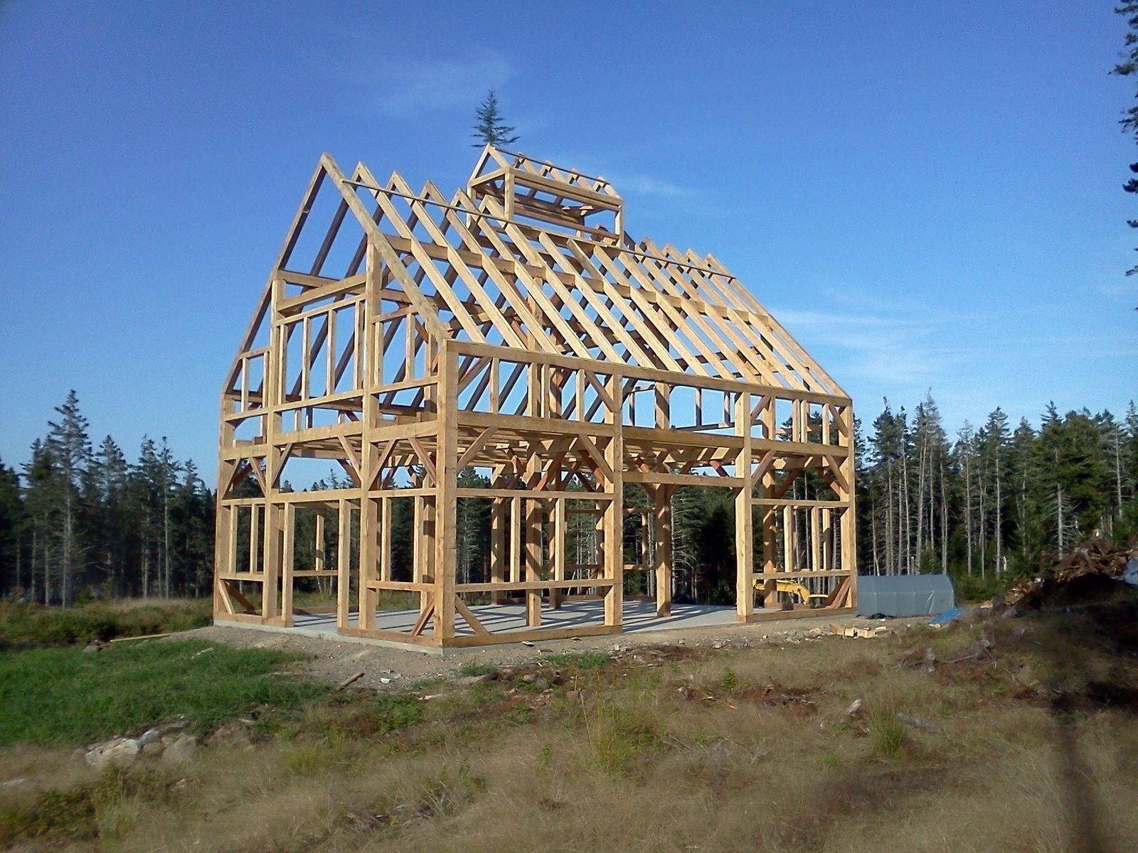Custom Made 30 X 40 Timber Frame Barn W 6 X 12