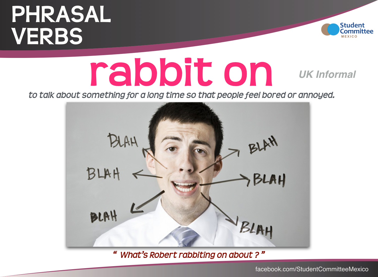 Aula De Inglês Aprender Phrasal Verbs In English Com: ' Rabbit On ' PHRASAL VERBS