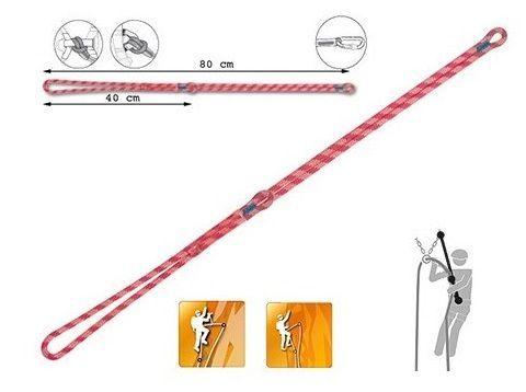 longe dinamica, facilissima da usare ed ottimizzata nelle dimensioni dei rami. La long dinamica è molto più sicura di una longe con cordini statici.