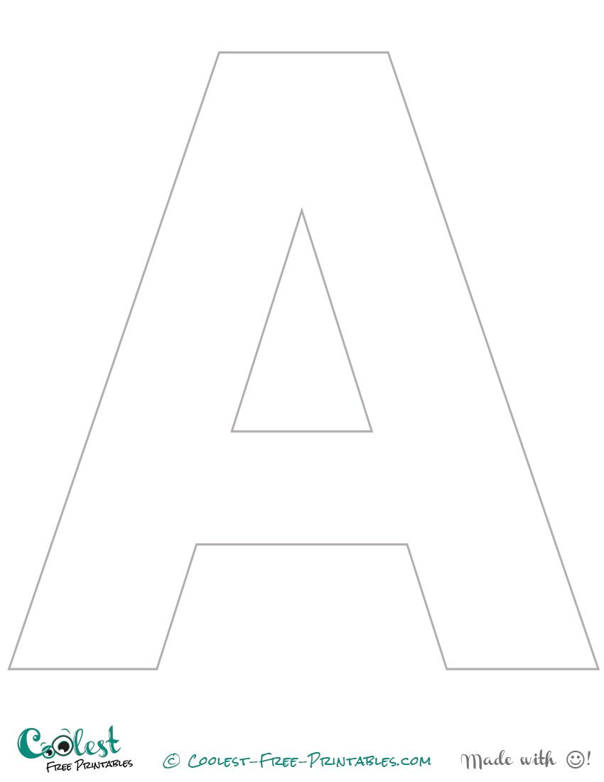 We've created this printable letter A stencil (uppercase