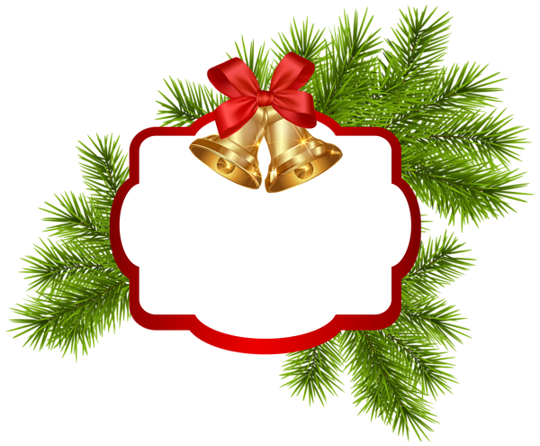Christmas White Blank Decor With Bells Png Clipart Image Christmas Card Images Christmas Cutouts Christmas Images