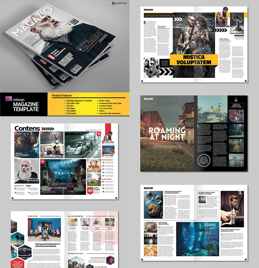 Free Indesign Magazine Templates: 30 Magazine Templates With Creative Print Layout Designs