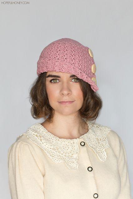 19029e18cbc62 1920 Rosebud Cloche Hat pattern by Olivia Kent | crafts | Crochet ...