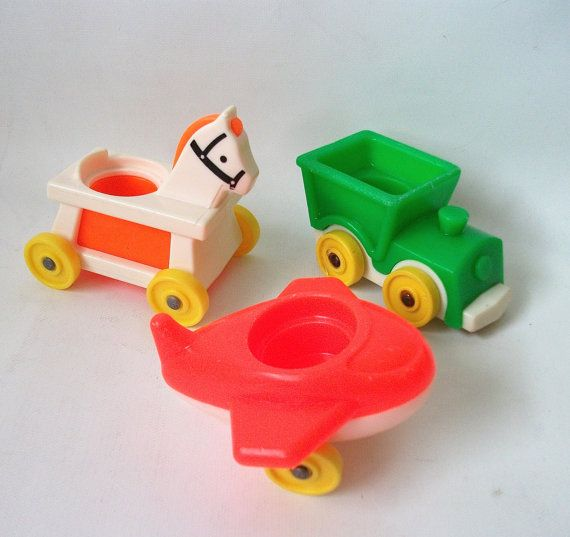 Vintage Fisher Price Nursery Little Riders Riding by RetroClassics, $9.99