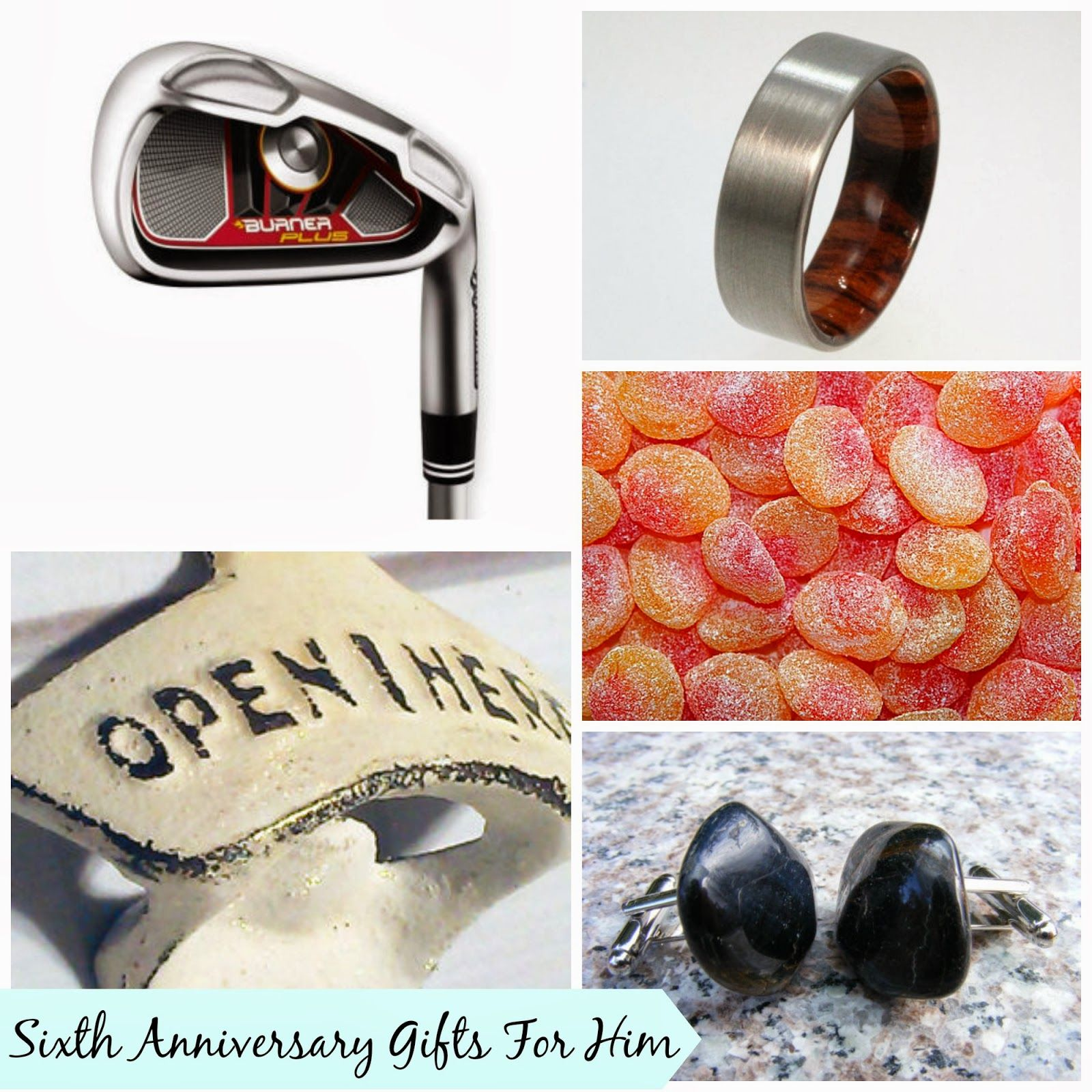 Sixth Wedding Anniversary Gifts For Him #giftguide