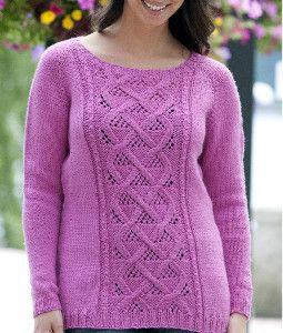 Winter Rose Sweater   AllFreeKnitting.com
