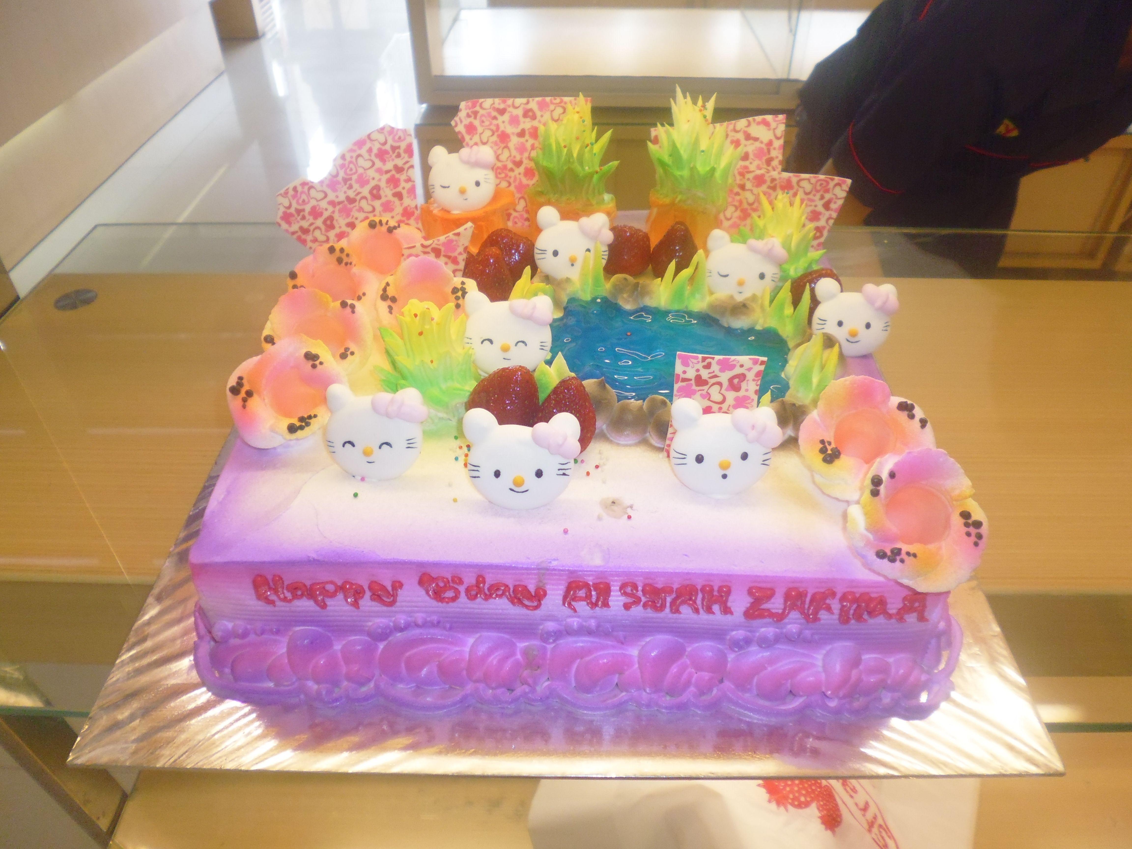 Birthday Cake Hello Kitty Made By Strawberry Delight Custom