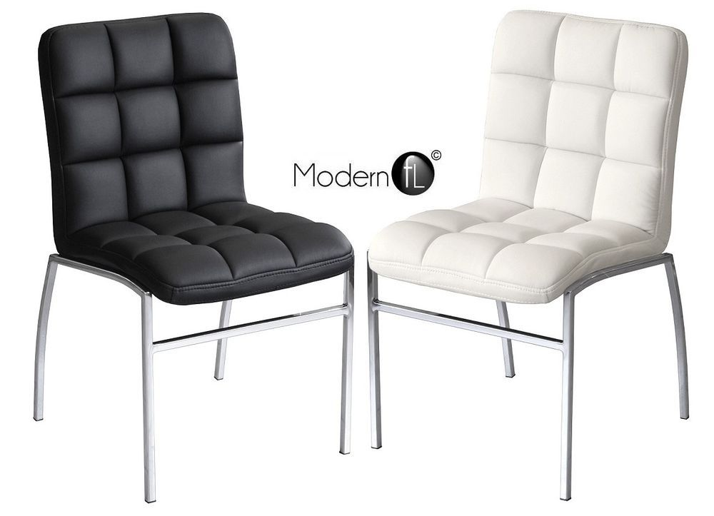 Barcelona Dining Chair Black Or White Available Modern Dining Chair