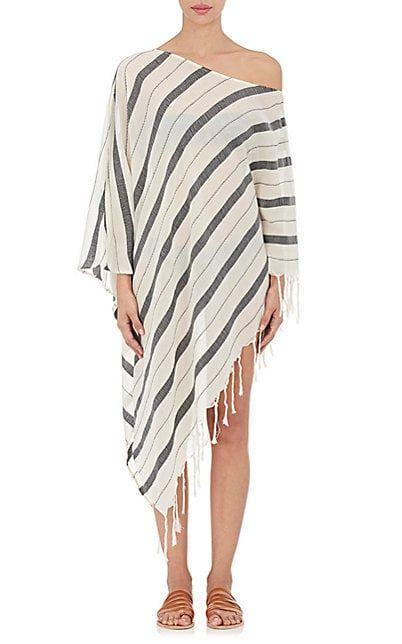 Womens Samana Striped Cotton Cover-Up Caftan SU Designs bHEH1I1Im