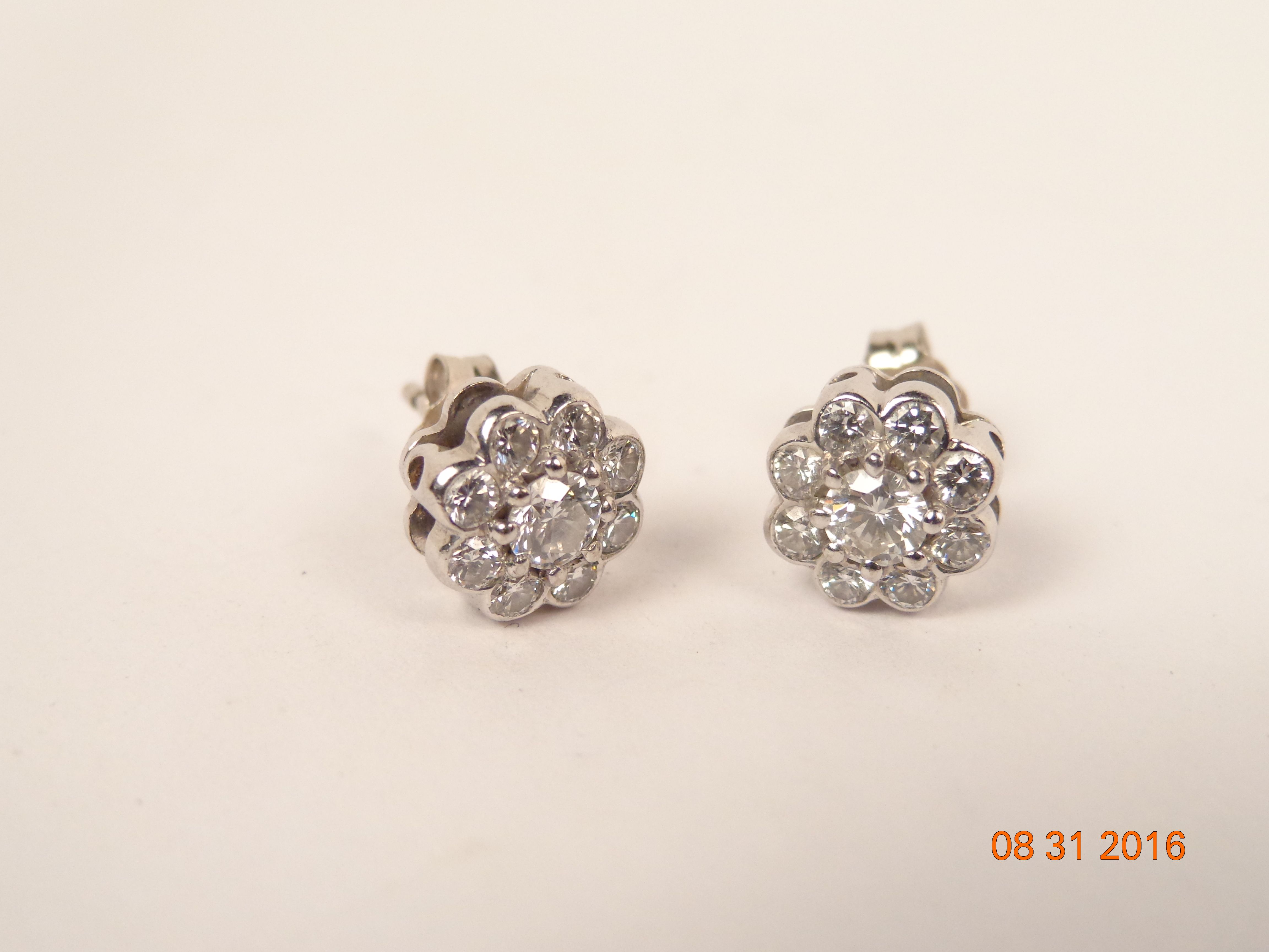 Plat Graff Diamond Flower Earrings About 50 Below Original Price Hhorwitz