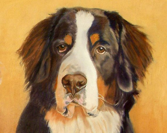 Bernese Mountain Dog Art Print from and Original Oil by PTarlowArt