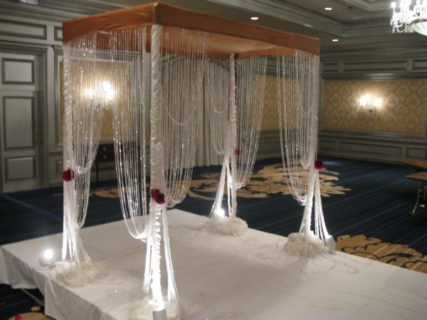 Crystal Chuppah (Wedding Canopy) from Perfect Petals - mazelmoments.com Keywords # : crystal canopies - memphite.com