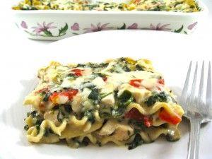 Skinny lasagna alfredo