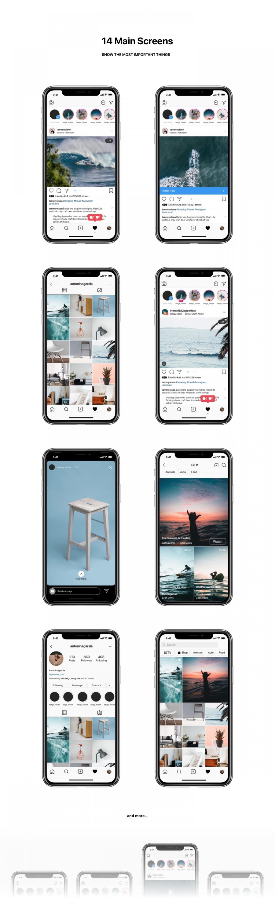 Instagram Mockup 2020 Free Download Psd Sketch Figma Instagram Mockup Iphone Mockup Psd Instagram Story Ads