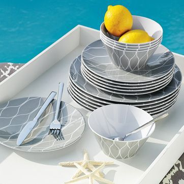 Better glasses and dishes add something special to the party but if you\u0027re worried about them breaking choose classy melamine dishes like these and just ... & Moll Anderson\u0027s Top 10 Tips for Summer Entertaining | Dinnerware