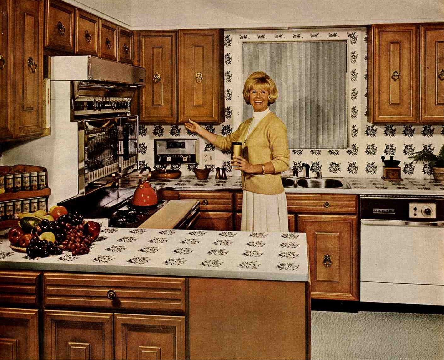 1960s Kitchens doris day in her 1966 malibu kitchen | 1960s kitchen & dining