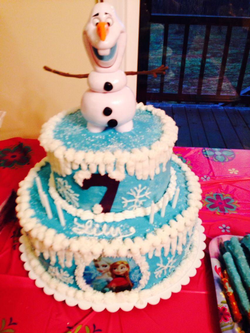 Frozen birthday cake for my 7 yr old granddaughter