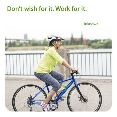 Work for it! Progress can build momentum. #getmoving