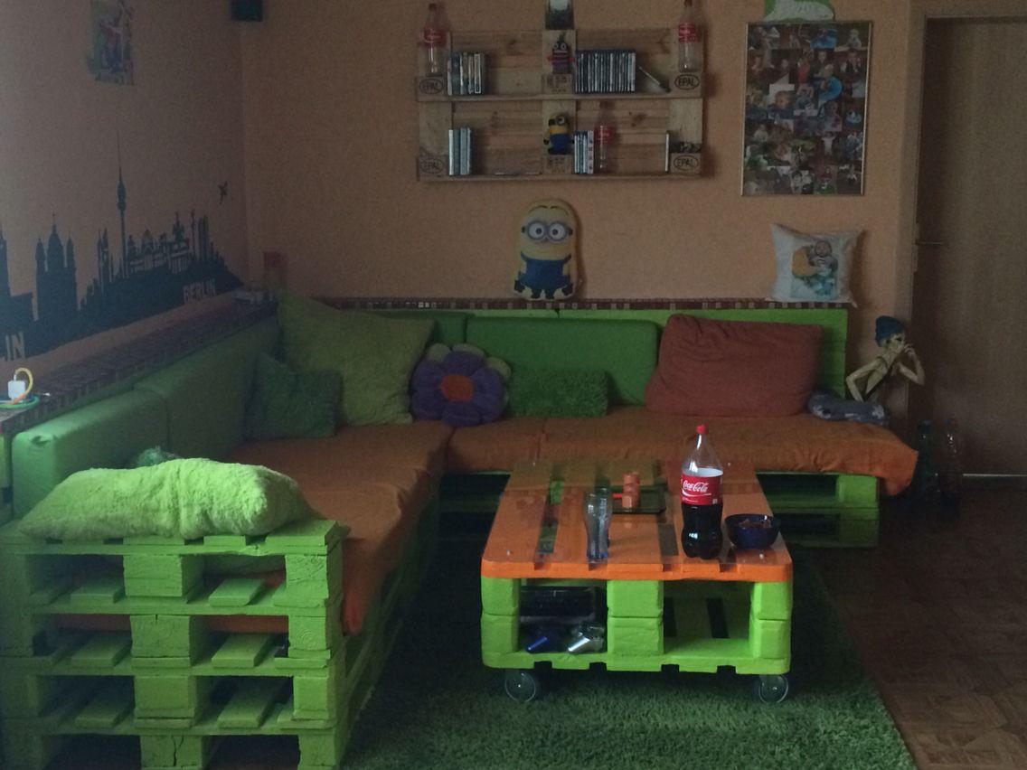 Unser Paletten Wohnlandschaft Paletten Wohnzimmer