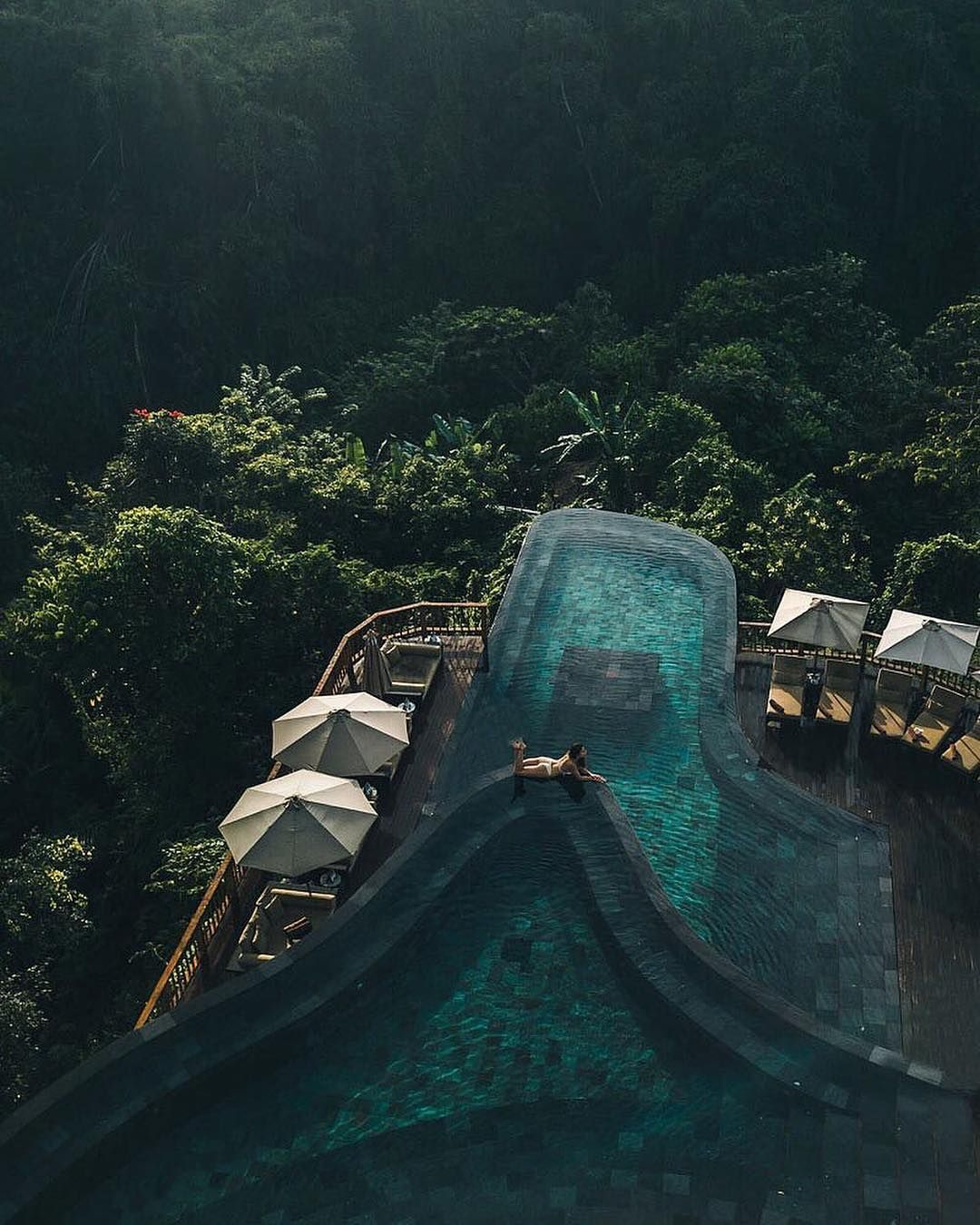 The Hanging Gardens in Bali Indonesia. Looks like a