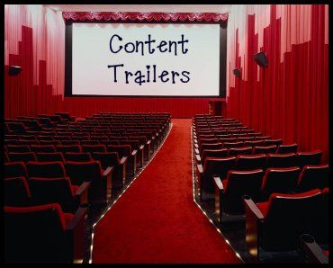 "Content Trailers-short music videos to act as a ""hook"" when introducing a lesson.  All grade levels, all subjects. What a fabulous idea!"